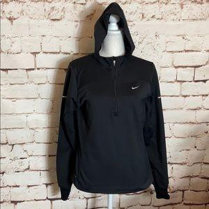 Nike Quarter Zip Fleece Lined Running Jacket